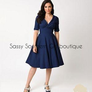 ⭐🆕 Blue retro style dress